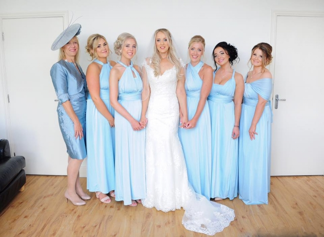 wedding, party, blue, dress