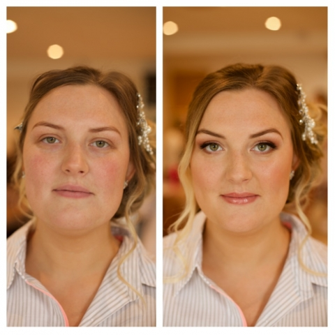 bridesmaid, makeup, rosegold