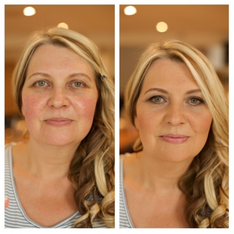 Mother of the bride, makeup, before and after