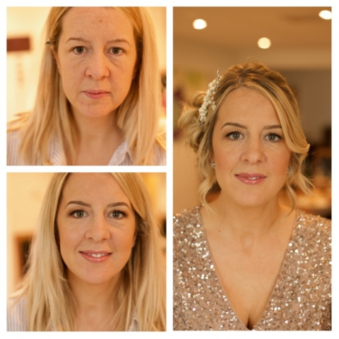 Bridesmaid, makeup, sequins