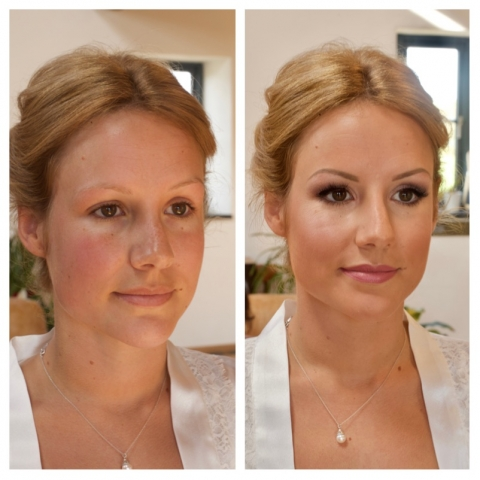 Before and after, makeup, cornwall