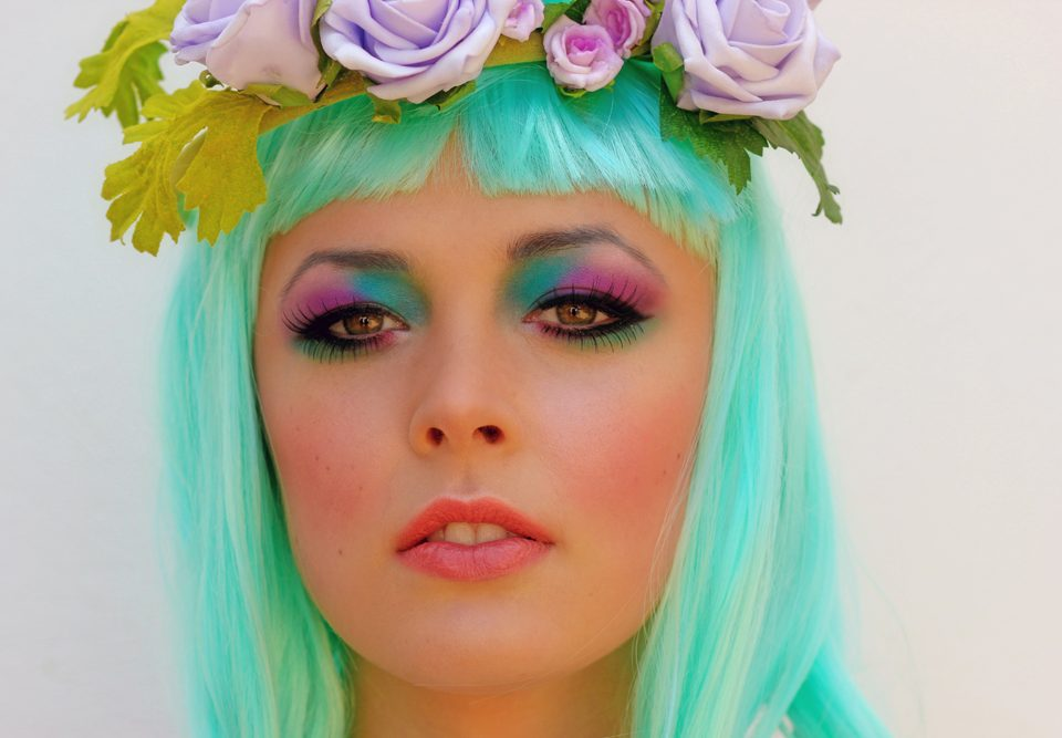 summer-colourful-makeup-Falmouth-sally-orchard-flowers