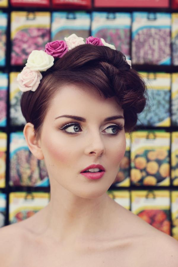 Pink-flower-makeup-look