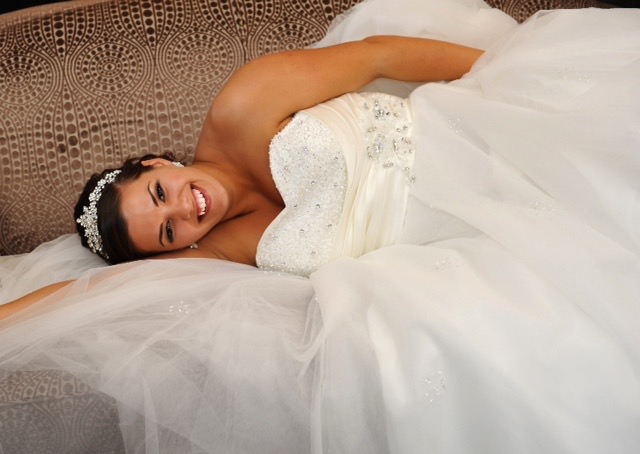 bride, dress, tiara, happy