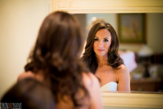 wedding, mirror, getting ready