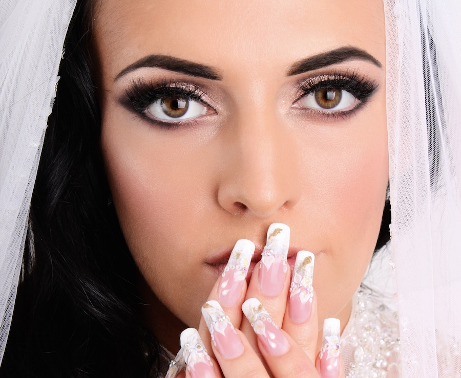 Bridal-makeup-nails-shoot