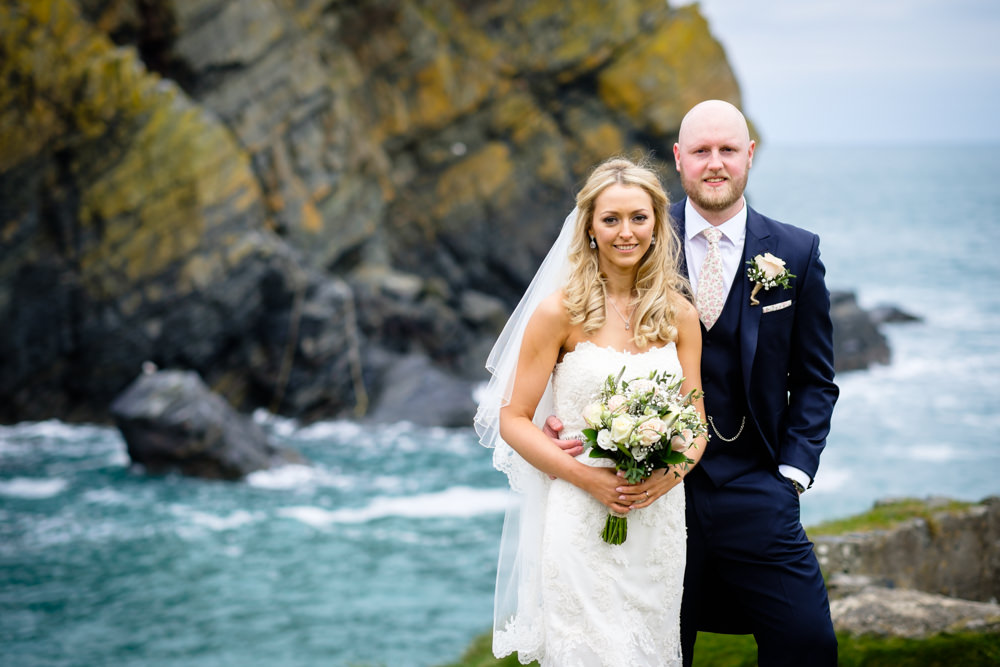wedding, ocean, cornish sea