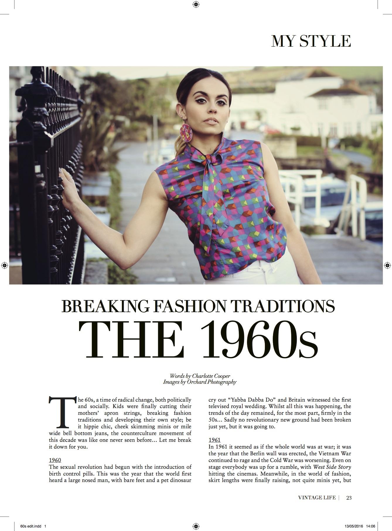 vintage life, magazine editorial