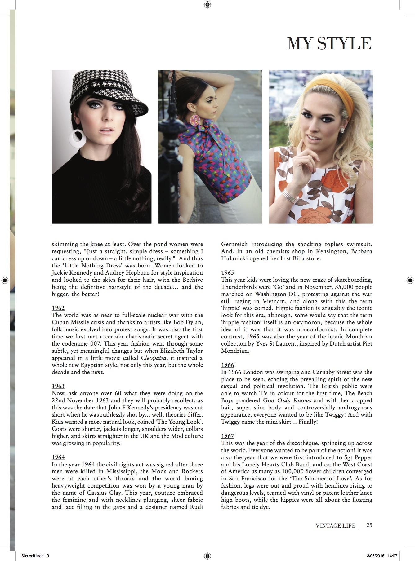 vintage life, magazine, makeup