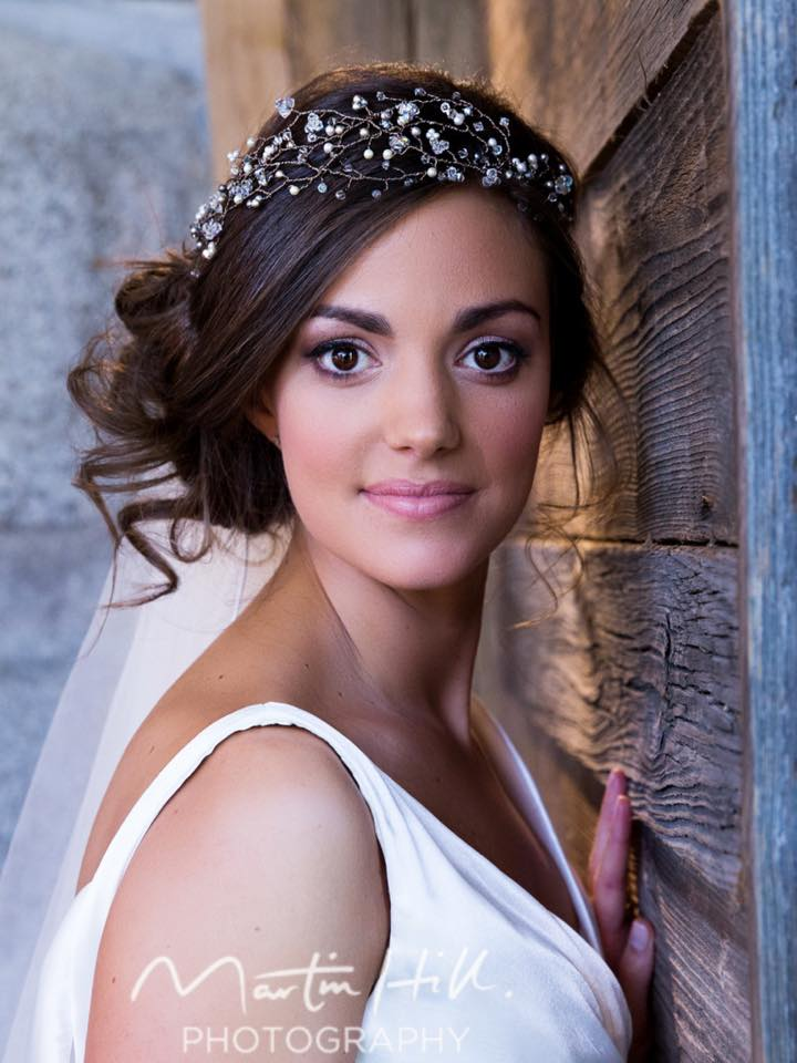 bride, tiara, makeup