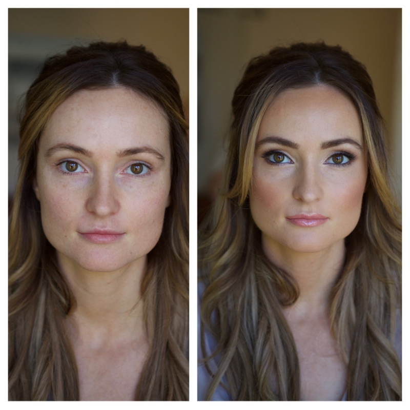 Before and after, makeup, contour