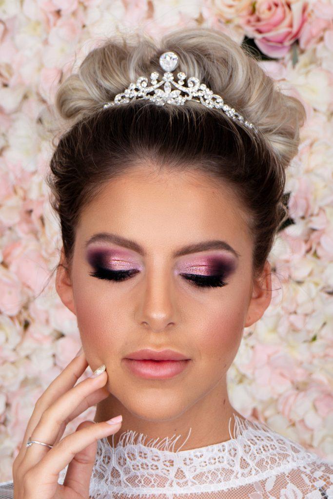 bridal makeup pink