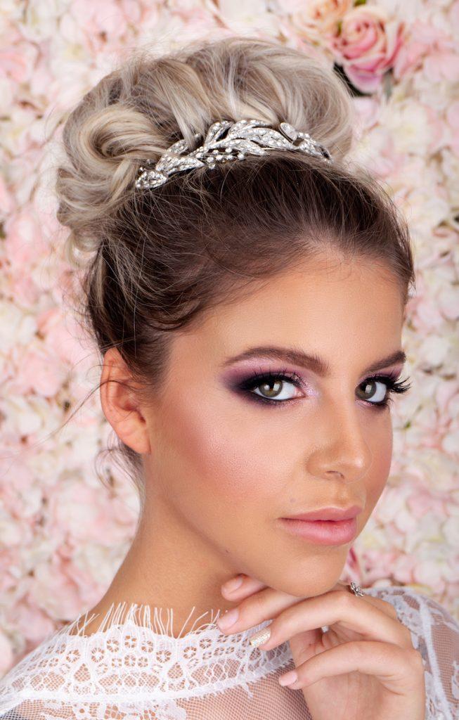 bridal, makeup, princess