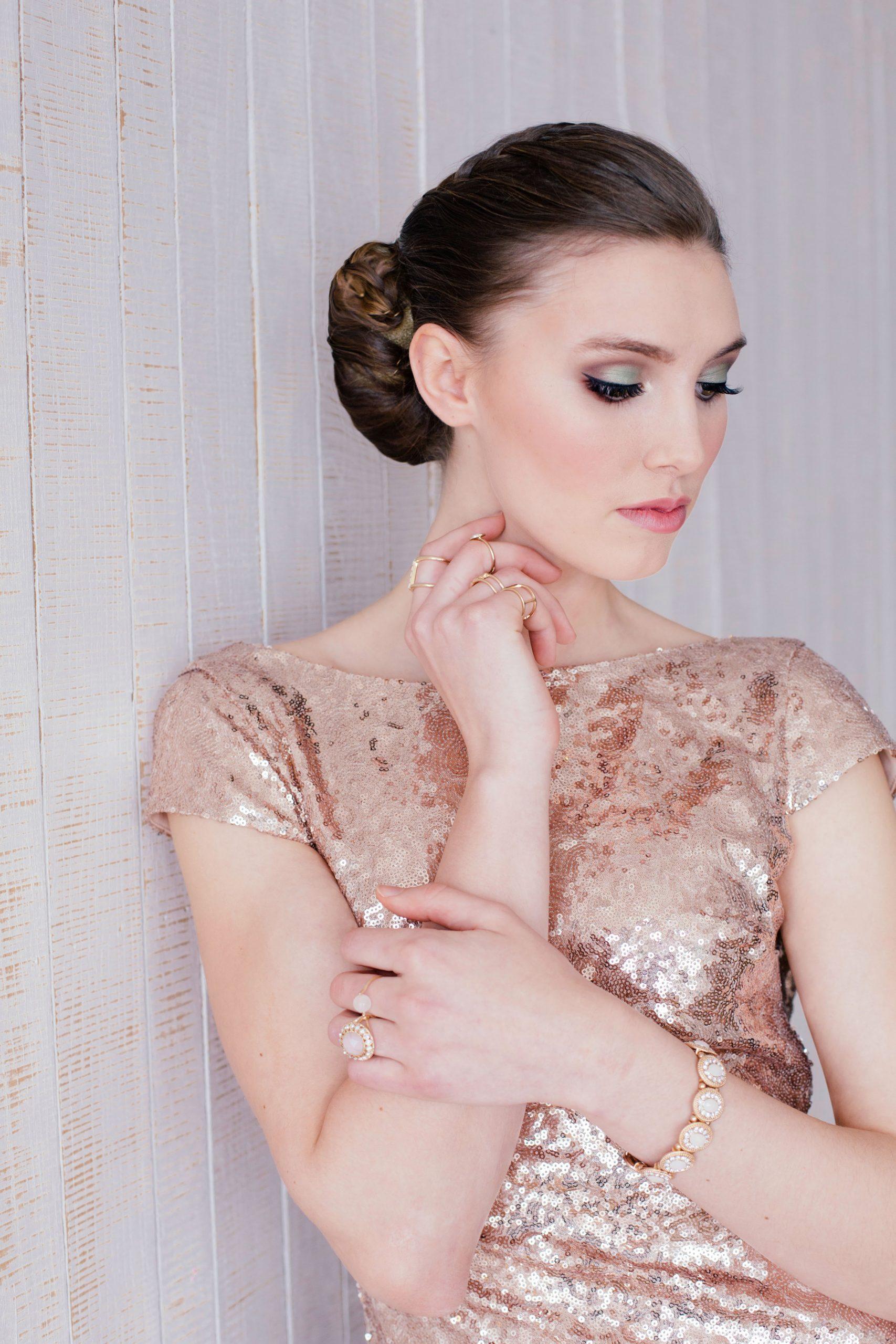 Wedding makeup-rose-gold